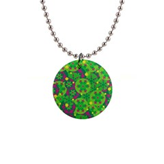Christmas decor - green Button Necklaces