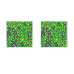 Christmas decor - green Cufflinks (Square)