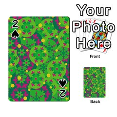 Christmas decor - green Playing Cards 54 Designs