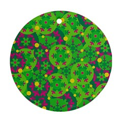 Christmas decor - green Round Ornament (Two Sides)