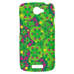 Christmas decor - green HTC One S Hardshell Case
