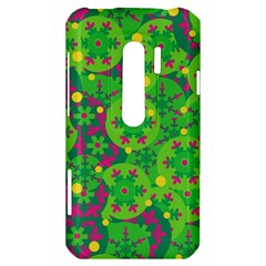 Christmas decor - green HTC Evo 3D Hardshell Case