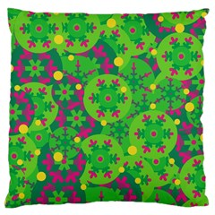 Christmas decor - green Large Cushion Case (Two Sides)