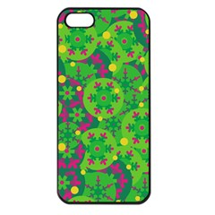 Christmas decor - green Apple iPhone 5 Seamless Case (Black)
