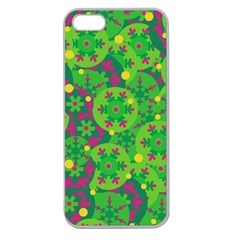 Christmas decor - green Apple Seamless iPhone 5 Case (Clear)