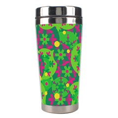 Christmas decor - green Stainless Steel Travel Tumblers