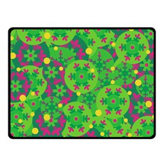 Christmas decor - green Double Sided Fleece Blanket (Small)