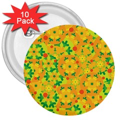 Christmas decor - yellow 3  Buttons (10 pack)