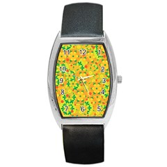 Christmas decor - yellow Barrel Style Metal Watch