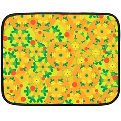 Christmas decor - yellow Double Sided Fleece Blanket (Mini)