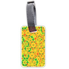 Christmas decor - yellow Luggage Tags (Two Sides)