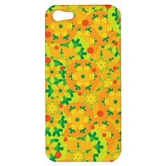Christmas decor - yellow Apple iPhone 5 Hardshell Case