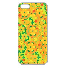 Christmas decor - yellow Apple Seamless iPhone 5 Case (Clear)