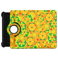 Christmas decor - yellow Kindle Fire HD Flip 360 Case