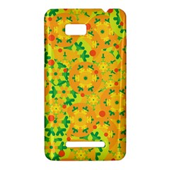 Christmas decor - yellow HTC One SU T528W Hardshell Case