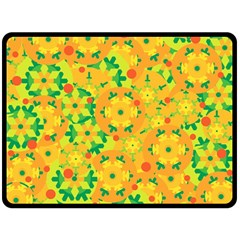 Christmas decor - yellow Double Sided Fleece Blanket (Large)