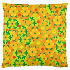 Christmas decor - yellow Large Flano Cushion Case (Two Sides)