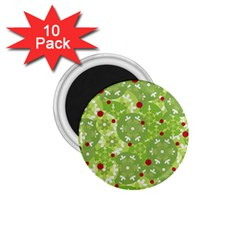 Green Christmas decor 1.75  Magnets (10 pack)