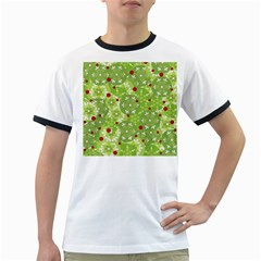 Green Christmas decor Ringer T-Shirts
