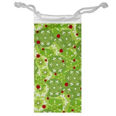 Green Christmas decor Jewelry Bags