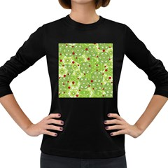 Green Christmas decor Women s Long Sleeve Dark T-Shirts