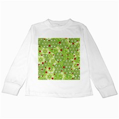 Green Christmas decor Kids Long Sleeve T-Shirts