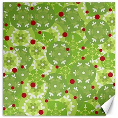 Green Christmas decor Canvas 12  x 12