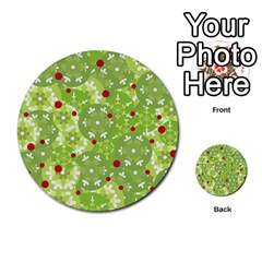 Green Christmas decor Multi-purpose Cards (Round)