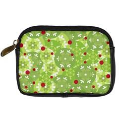 Green Christmas decor Digital Camera Cases