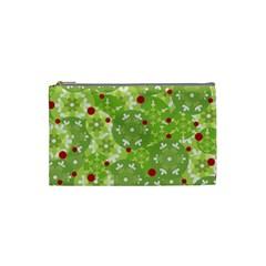 Green Christmas decor Cosmetic Bag (Small)