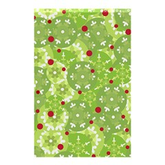 Green Christmas decor Shower Curtain 48  x 72  (Small)