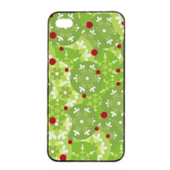 Green Christmas decor Apple iPhone 4/4s Seamless Case (Black)