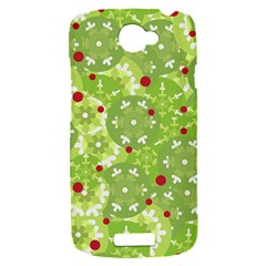 Green Christmas decor HTC One S Hardshell Case