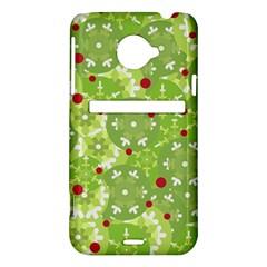 Green Christmas decor HTC Evo 4G LTE Hardshell Case