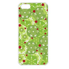 Green Christmas decor Apple iPhone 5 Seamless Case (White)