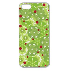 Green Christmas decor Apple Seamless iPhone 5 Case (Clear)
