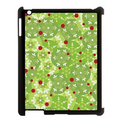 Green Christmas decor Apple iPad 3/4 Case (Black)