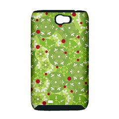 Green Christmas decor Samsung Galaxy Note 2 Hardshell Case (PC+Silicone)