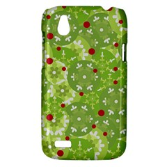 Green Christmas decor HTC Desire V (T328W) Hardshell Case