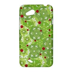 Green Christmas decor HTC Desire VC (T328D) Hardshell Case