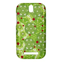 Green Christmas decor HTC One SV Hardshell Case