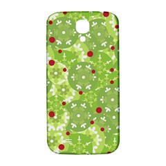 Green Christmas decor Samsung Galaxy S4 I9500/I9505  Hardshell Back Case