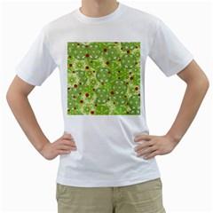 Green Christmas decor Men s T-Shirt (White)