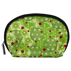 Green Christmas decor Accessory Pouches (Large)