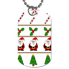 Christmas pattern Dog Tag (Two Sides)
