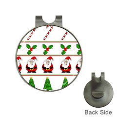Christmas pattern Hat Clips with Golf Markers