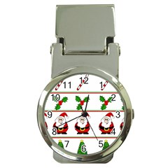 Christmas pattern Money Clip Watches