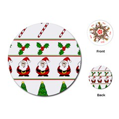 Christmas pattern Playing Cards (Round)