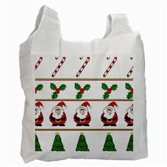 Christmas pattern Recycle Bag (Two Side)