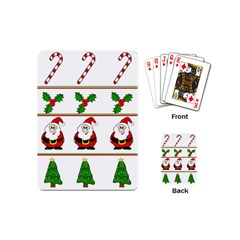 Christmas pattern Playing Cards (Mini)